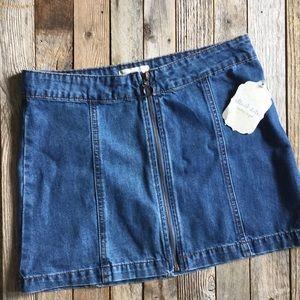 COPY - Altar'd State denim mini skirt NWT
